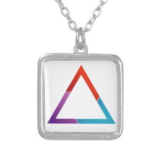 Triángulo abstracto colgante cuadrado