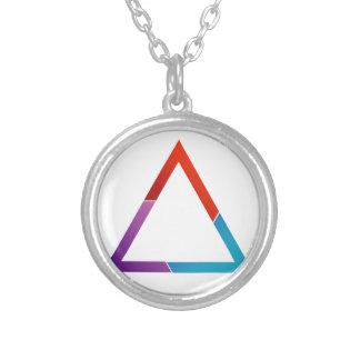 Triángulo abstracto colgante redondo