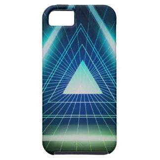 Triángulo abstracto de la pirámide iPhone 5 carcasas