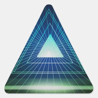 Triángulo abstracto de la pirámide pegatina triangular