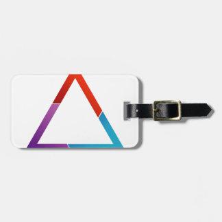 Triángulo abstracto etiquetas maleta