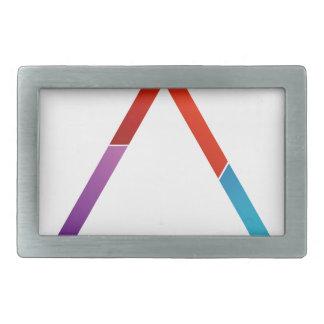 Triángulo abstracto hebilla cinturón rectangular