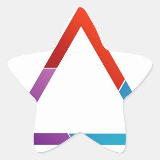 Triángulo abstracto pegatina en forma de estrella
