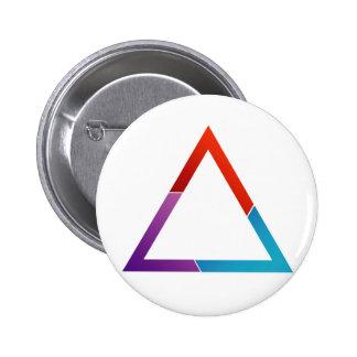 Triángulo abstracto pin redondo de 2 pulgadas