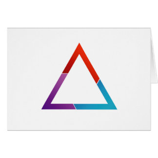Triángulo abstracto tarjeta de felicitación