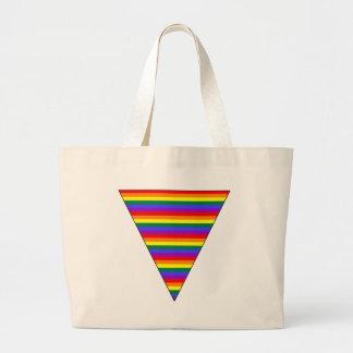 Triángulo adaptable del arco iris del orgullo bolsa
