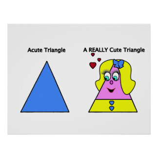 Triángulo agudo un triángulo realmente lindo impresiones