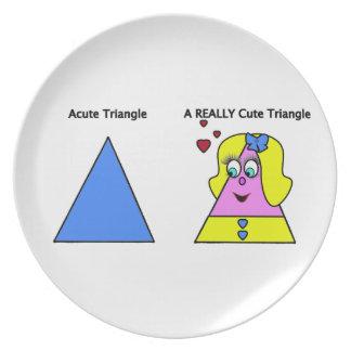 Triángulo agudo un triángulo realmente lindo plato de comida