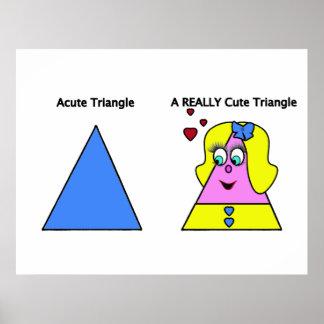 Triángulo agudo un triángulo realmente lindo póster