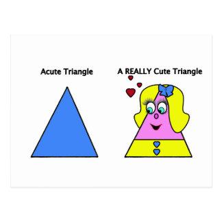 Triángulo agudo un triángulo realmente lindo tarjeta postal