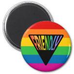Triángulo amistoso gay imanes de nevera
