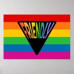 Triángulo amistoso gay impresiones