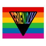 Triángulo amistoso gay postal