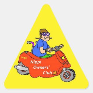 ¡Triángulo amonestador de Nippi! Calcomanías Trianguloes Personalizadas