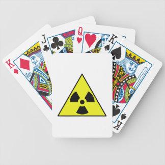 Triángulo amonestador nuclear baraja cartas de poker