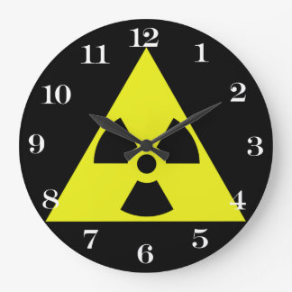 Triángulo amonestador nuclear reloj de pared