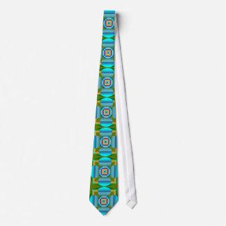 Triángulo azul/anaranjado/verde del cuadrado del corbata personalizada