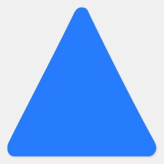 Triángulo azul del color pegatinas trianguloes