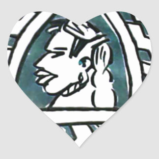 Triángulo azul Style.png de Hakuna Matata Pegatina En Forma De Corazón
