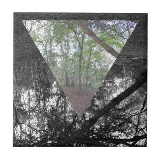 Triángulo Azulejo Cuadrado Pequeño