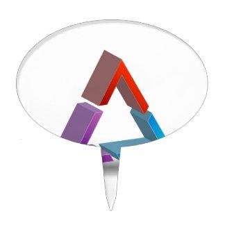 Triángulo colorido decoraciones para tartas