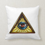 Triángulo con el ojo del ojo de Providence Almohada