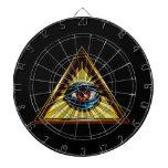 Triángulo con el ojo del ojo de Providence Tablero Dardos