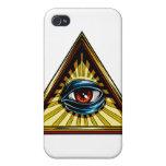 Triángulo con el ojo del ojo de Providence iPhone 4/4S Funda