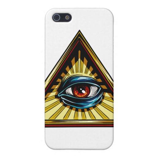 Triángulo con el ojo del ojo de Providence iPhone 5 Coberturas