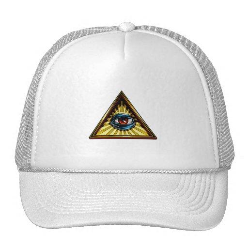 Triángulo con el ojo del ojo de Providence Gorra