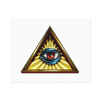 Triángulo con el ojo del ojo de Providence Lona Envuelta Para Galerias