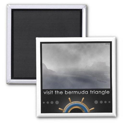 Triángulo de Bermudas Imán Cuadrado
