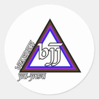 Triángulo de Jiu Jitsu BJJ del brasilen@o del Pegatina Redonda