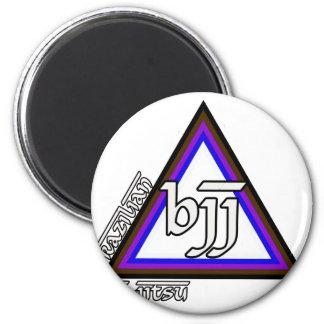 Triángulo de Jiu Jitsu BJJ del brasilen@o del prog Imán Redondo 5 Cm