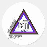 Triángulo de Jiu Jitsu BJJ del brasilen@o del prog Pegatinas Redondas