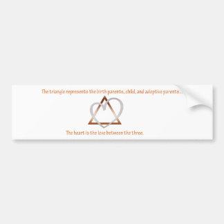 Triángulo de la adopción pegatina para auto