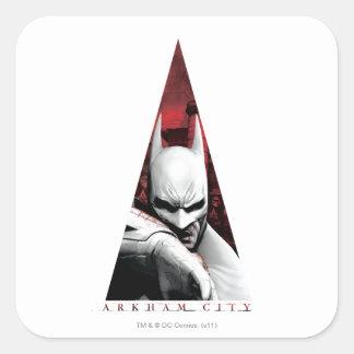 Triángulo de la ciudad de Arkham Calcomanía Cuadrada Personalizada