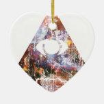 Triángulo de la galaxia ornamento de navidad