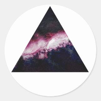 Triángulo de la galaxia pegatinas redondas