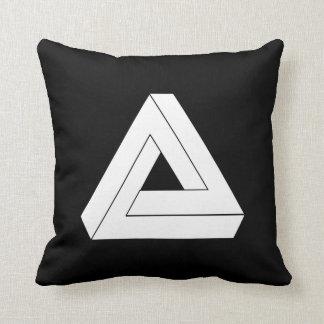 Triángulo de la ilusión almohada