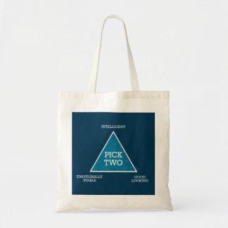 Triángulo de la selección dos bolsa tela barata