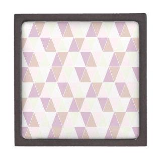 Triángulo de los rosas en colores pastel cajas de regalo de calidad