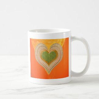 Triángulo de oro - corazones del Threesome Tazas De Café