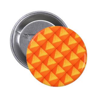Triángulo de oro: Impresión DE SEDA de la Pin Redondo 5 Cm