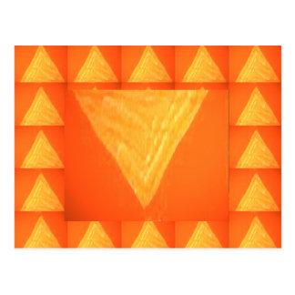 Triángulo de oro: Impresión DE SEDA de la Tarjeta Postal