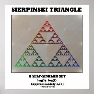 Triángulo de Sierpinski (sistema Uno mismo-Similar Impresiones