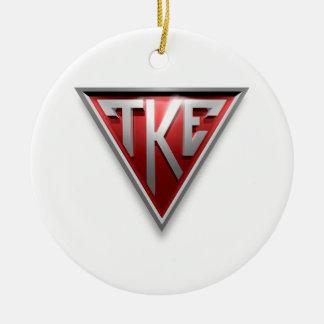 Triángulo de TKE Adorno Navideño Redondo De Cerámica
