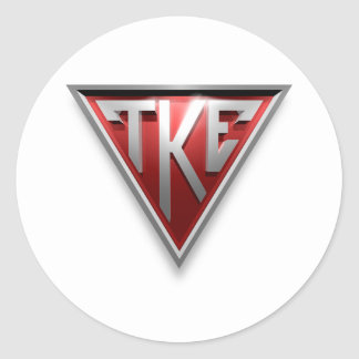 Triángulo de TKE Pegatina Redonda