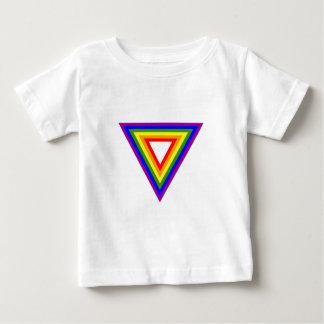 Triángulo del arco iris playera de bebé