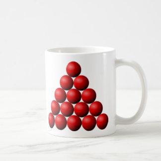 Triángulo del billar tazas de café
